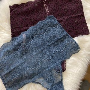Victoria's Secret 2 High Waisted Lace Panties